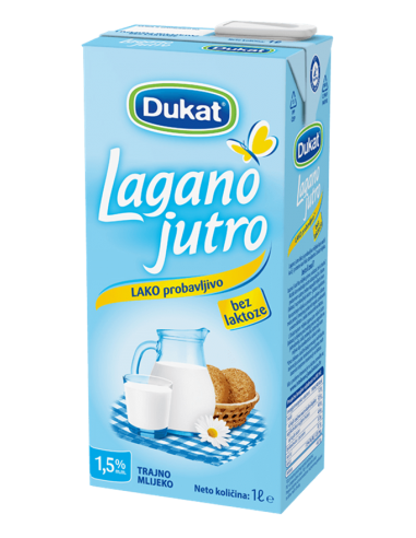 Dukat Lagano jutro, mlijeko bez...