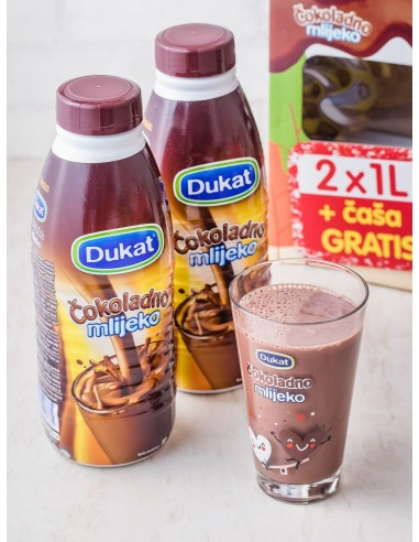 Čokoladno mlijeko 2x1L + ČAŠA GRATIS