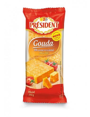 President mramorna Gouda, 250 g