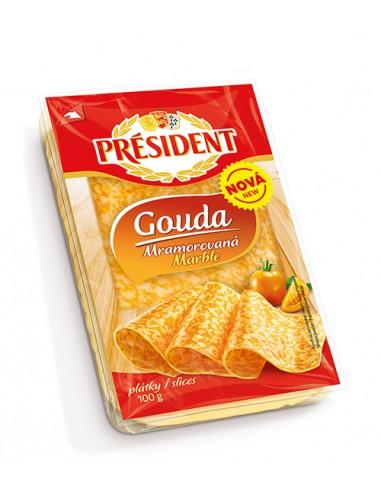 President mramorna Gouda, narezana,...