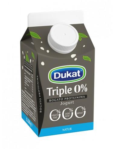 Dukat Triple 0 % jogurt, natur, 500 g
