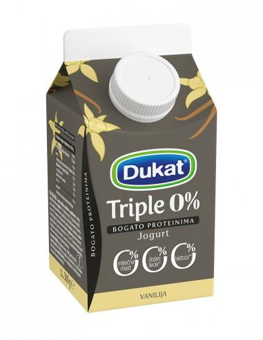 Dukat Triple 0 % jogurt, okus...