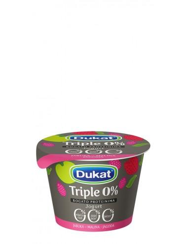 Dukat Triple 0 % jogurt, okus jabuka...